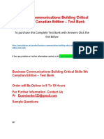 Business Communications Building Critical Skills 5th Canadian Edition – Test Bank