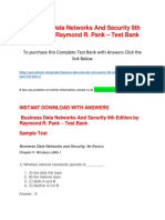 Business Data Networks and Security 9th Edition by Raymond R. Pank – Test Bank