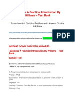 Business a Practical Introduction by Williams – Test Bank