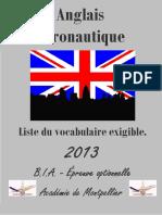 Anglais Vocabulaire 2014