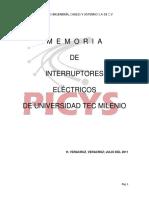 MEMORIA DE INTERRUPTORES