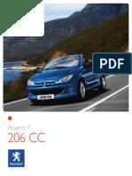 Peugeot 206 cc catalogue