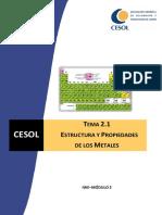 Estructura y Propiedades de Los Metales