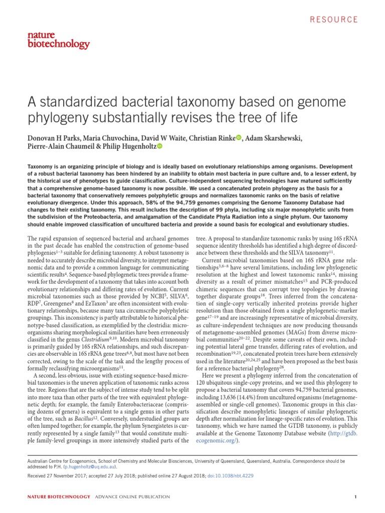 Leer Taxonomy Biology