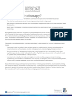 What is Psychotherapy-APA