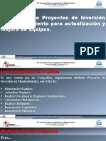 Evaluación de Proyectos de Inversión en Mantenimiento para actualización y Mejora de Equipos