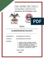 Informe de Calicatas