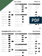 Komplete Kontrol S-series Mk2 Daw Shortcut Sheet 0918