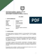 SÍLABO 2019 II-Ecologia Forestal