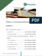 Tema 4. Catalogacion RDA en MARC21