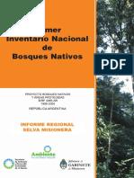 Inventario Nacional de Bosques 1998_2005 Selva Misionera (SAyDS)