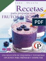 Recetas para preparar con frutos rojos