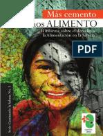 Mas Cemento Menos Alimento II Informe Sobre El Derecho a La Alimentación en La Sabana Corporacion Cactus
