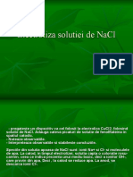 Electroliza Solutiei de NaCl