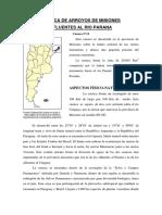 CUENCA DE ARROYOS DE MISIONES AFLUENTES AL RIO PARANA