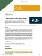 VESSURI, Hebe. de La Transferencia a La Creatividad - Traduzido