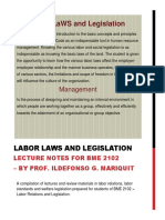 Labor Laws and Legislation Lecture 2019