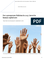 For a Prosperous Pakistan in 2047, Invest in Human Capital Now - Pakistan - DAWN.com