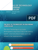 The Role of Technology in Delivering Curriculum