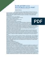EL DERECHO DE ACCESO A LA INFORMACIÓN PÚBLICA EN EL PERÚ.docx
