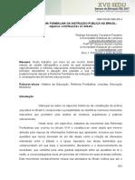 A Reforma Pombalina Da Instrucao Publica No Brasil Algumas Contribuicoes Ao Debate