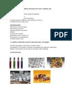 Materiales Para Envase y Embalaje