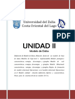 Unidad II - Modelo de Datos