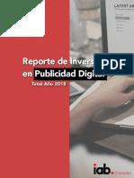 Resumen Ejecutivo Inversión en Publicidad Digital Colombia ano 2018