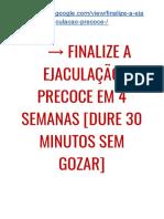 G1→ Finalize a EJACULAÇÃO PRECOCE Em 4 Semanas [DURE 30 Minutos SEM GOZAR]