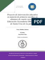 Proyecto de Intervención Educativa en Materia de Primeros Auxilios