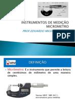 Aula5 - Instrumentos de Medição- Micrometro