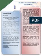 Newsletter 10 18 19