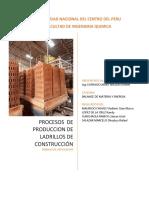 diagrama de flujo del proceso de producción de ladrillos