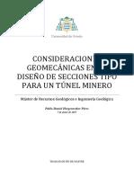 Consideraciones Geomecánicas en El Diseño de Secciones Tipo Para Un Túnel Minero