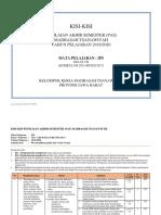 1. Kisi-Kisi IPS Kelas 7 PAS Tahun 2019-2020 Final