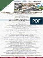 Programa Seminario Internacional Desigualdades urbanas. Derecho a la ciudad y gobernanza local en las ciudades de América Latina