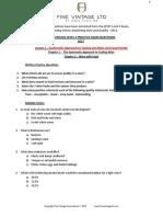 Fine Vintage Level 3 Practice Questions 2017
