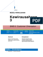 BAB 6 Customer Orientation