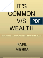 It s Common v s Wealth by Kapil Mishra