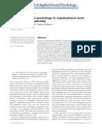 SESIÓN 10 - Rast (2015) (Re)Applying Social Psychology to Organizational Work