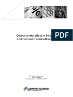 Object Contra Effect in Swedish and European Competition Law