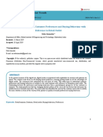 An Empirical Study on Customer Preferences and Buying Behaviour With