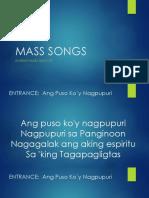 Marian Mass Song Lineup