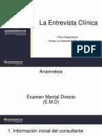Exposición Elementos Entrevista Clínica