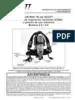 Air-Pak 75i SCBA - Manual (Español) - Scott Safety
