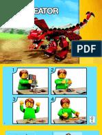 Legro Creator dragon rojo