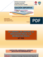 Ley Gral Del Dep. La Educ.fisica (522)