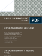 Spiritual Transformation and Learning