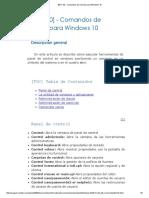 [Win 10] - Comandos de Consola Para Windows 10