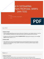 Bab IV Sistematika Penyusunan Proposal Skripsi Dan Tesis